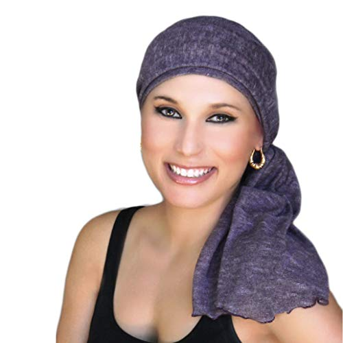 Turban Diva Pre-Tied Chemo Hat Scarf Set, Head Wrap, Beanie Headwear for Cancer, Chemo Patient or Alopecia