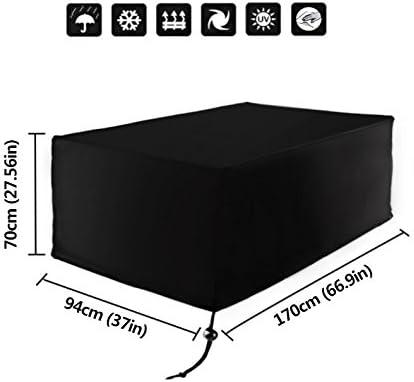 Xiliy Funda para Muebles de Jardín Impermeable Funda para Mesa para Mobiliario de Exterior Mesa 170 x 94 x 70 cm