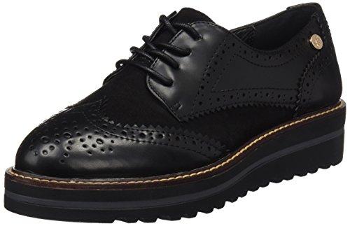 047336 de Zapatos Negro Oxford Mujer Black Cordones XTI para E0IdxwE