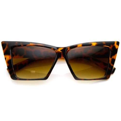 zeroUV - High Pointed Cat Eye Sunglasses Sharp Geometric Square Frame Cateyes - Best Sunglasses Cat Designer Eye