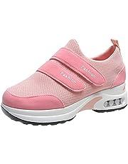 XOXSION Hardloopschoenen voor dames, mesh platform, casual sneakers, Maglc Tape Air Cushion sneaker, lichtgewicht outdoor sportschoenen, fitnessschoenen, gym, gymschoenen, loopschoenen, vrijetijdsschoenen