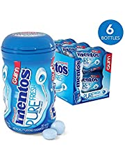 Mentos Pure Fresh Sugar-Free Chewing Gum with Xylitol, Fresh Mint, Valentines Day Gifts, Bulk, 50 Piece Bottle (Pack of 6)