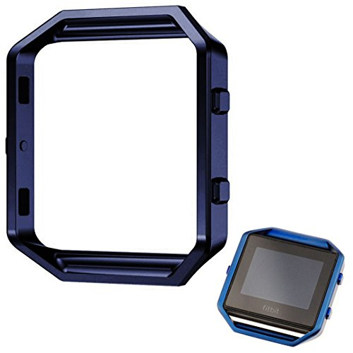 Shareconn Replacement Accessory Steel Frame for Fitbit Blaze Smart Watch Blue