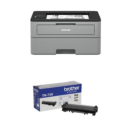 Brother Compact Monochrome Laser Printer, HLL2350DW with Standard Yield Black Toner