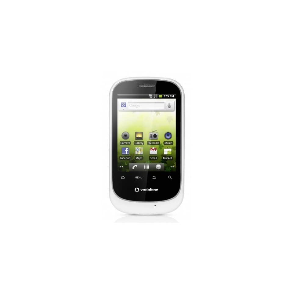 HUAWEI Vodafone 858 Smart U8160 Unlocked GSM Phone with Android 2.2 OS, Touchscreen, 2MP Camera, Wi Fi, GPS, Radio and microSD Slot   White