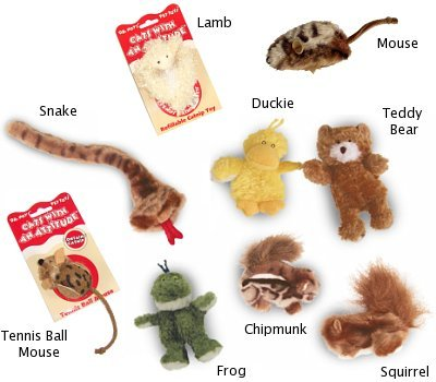 Dr. Noy's Cats With An Attitude Catnip Toys - Squirrel