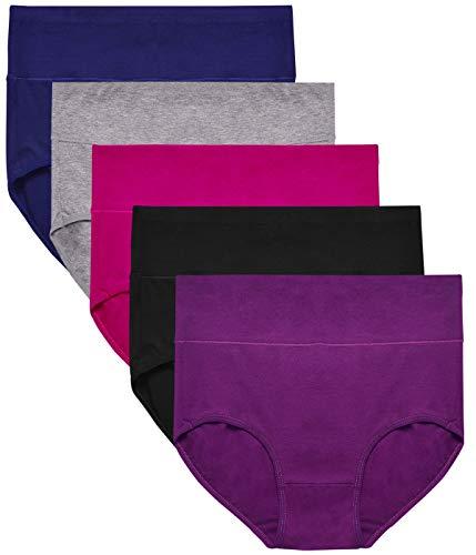 (ASIMOON Women's Cotton Underwear, Soft Stretch Briefs Panties Breathable Underwear Women Underpants)