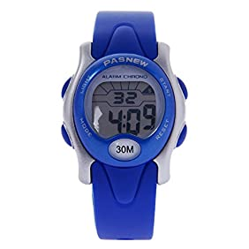 Hiwatch Kids Sport Watches Waterproof Digital Watch for Boys and Girls Led Watch for Toddler Blue