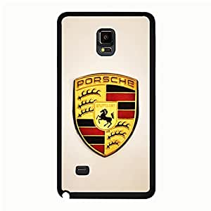 Fashional Original Samsung Galaxy Note 4 Cover Case,Fashional Element Luxury Flag Porsche Cell Phone Case Porsche Logo