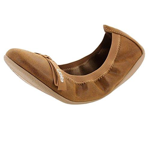 Les Petites Bombes Women's Ballet Flats Brown kx1GUzpsxk