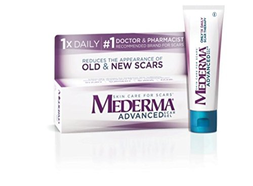 Mederma Advanced Scar Gel - 1x Daily - Reduces the Appearance of Old & New Scars - #1 Doctor & Pharmacist Recommended Brand for Scars - 1.76 oz.