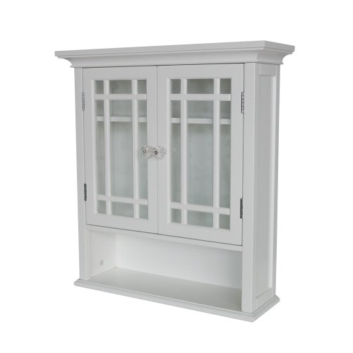 Elegant Home Fashions Neal Collection Shelved Wall Cabinet with Cubby, White (Kohl's Patio Furniture Sets)