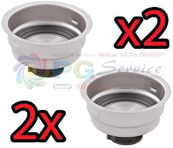 DeLonghi 2 x Filtro Crema 2 tazas polvo máquina Café Icona EC155 EC410 eco310: Amazon.es: Hogar