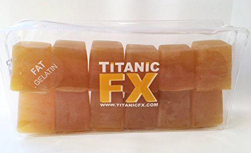 (Titanic FX – Reusable Prosthetic Gelatin Fat – For Special FX and Theatrical Makeup - Wounds, Scars, Injuries –)