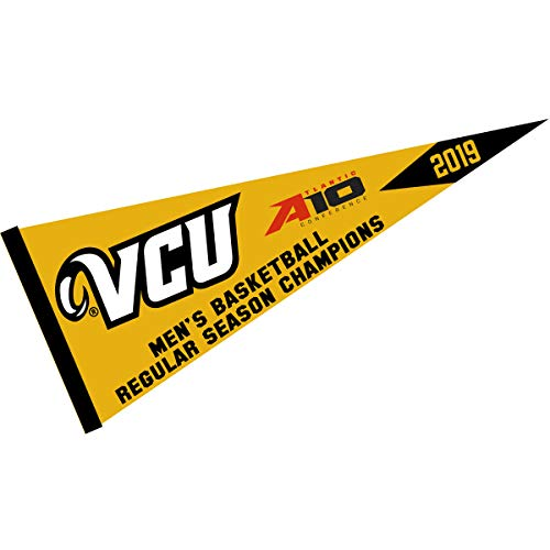 College Flags and Banners Co. Virginia Commonwealth Rams 2019 A10 Mens Basketball Champions -