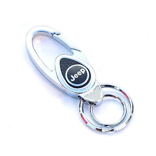 Carabiner Logo (agret Zinc Alloy Key Chain Heavy Duty Clip Hooks Business Keychain with 3D Car Sign (JP))