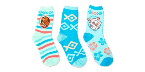 Disney Moana 3 Pack Girl's Crew Socks Pua Pig Princess