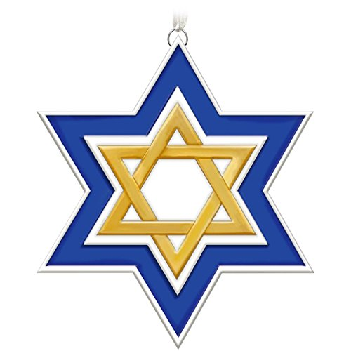 Hallmark Keepsake 2017 Season of Miracles Porcelain Star of David (Porcelain Star Ornament)