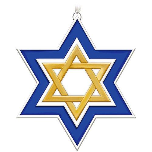 Decorative Holiday Star Ornament (Hallmark Keepsake 2017 Season of Miracles Porcelain Star of David Ornament)