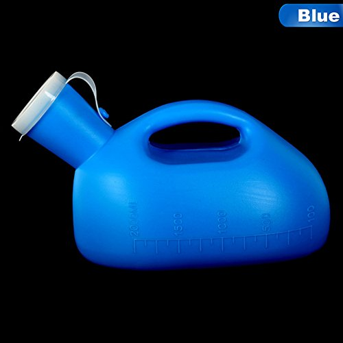 Elderly Accessories M and F 1 PC Portable Urine Bottle Urinal Storage Bottle Climbing Hiking Tool Camping Travel Male Mens Pee 2000ML Outdoor Color Blue by Elderly Accessories M and F