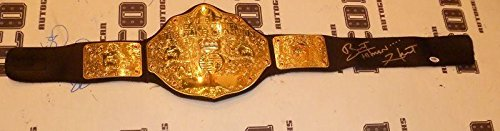 Bret The Hitman Hart Signed WWE WWF Championship Toy Belt COA Autograph PSA/DNA Certified Autographed Boxing Equipment