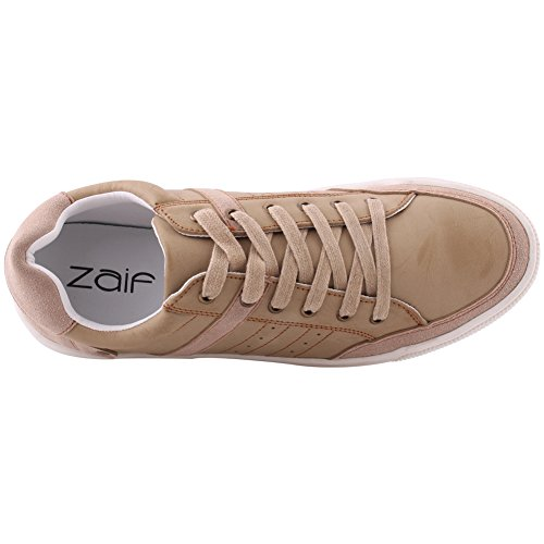 Unze Männer Valerio Lässige Mode Slip auf Runner Cross-Trainer Schnürung Sneakers UK Größe 6-11 - ZL-8 Kamel