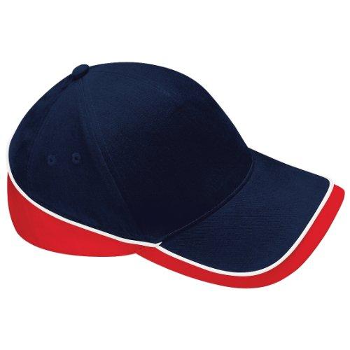 Competition Visera Rojo Azul Modelo Beechfield Unisex algodón 100 Gorra marino Piscina deportiva Verano q5B7wX6