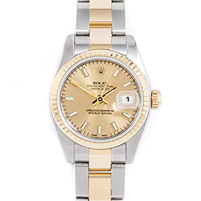 Rolex New Style 26mm Ladies Stainless Steel & 18k Yellow Gold Datejust - Champagne Index - Fluted Bezel - Oyster Band (Certified Pre-Owned) from Rolex