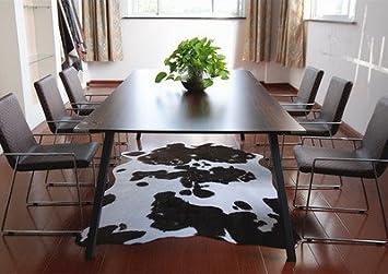 GRENSS Nachahmung Kuhfell Teppich Tier Fußmatte Wohnzimmer Schlafzimmer  Kaffee Braun Schwarz Und Weiß Mode Originalität Wolldecke