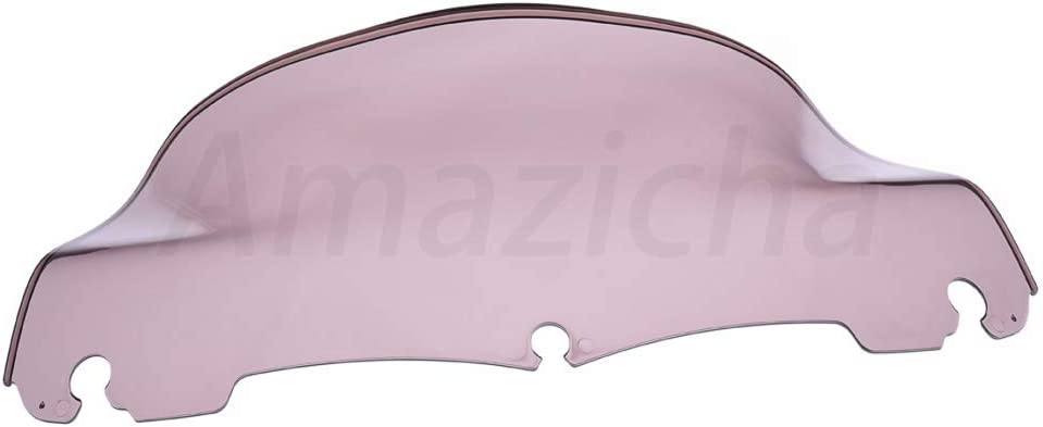 Amazicha 9 Smoke Wave Windshield Windscreen Wind Splitter Compatible for Harley Davidson Touring Street Glide Electra Glide 2014-2020