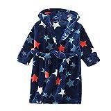 Happy Cherry Boys Bathrobes Unisex Children's Flannel Robe Nightgown Hooded Animal Sleepwear 2-6tT