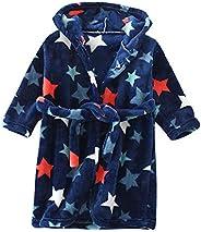 Happy Cherry Boys Bathrobes Unisex Children's Flannel Robe Nightgown Hooded Animal Sleepwear 2