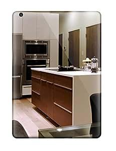 Best 3295129K86247794 Excellent Design White And Dark Wood Kitchen Island Phone Case For Ipad Air Premium Tpu Case