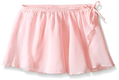 Jacques Moret Little Girls Dance Basic Wrap Skirt, Pink, (Danskin Pink Skirt)