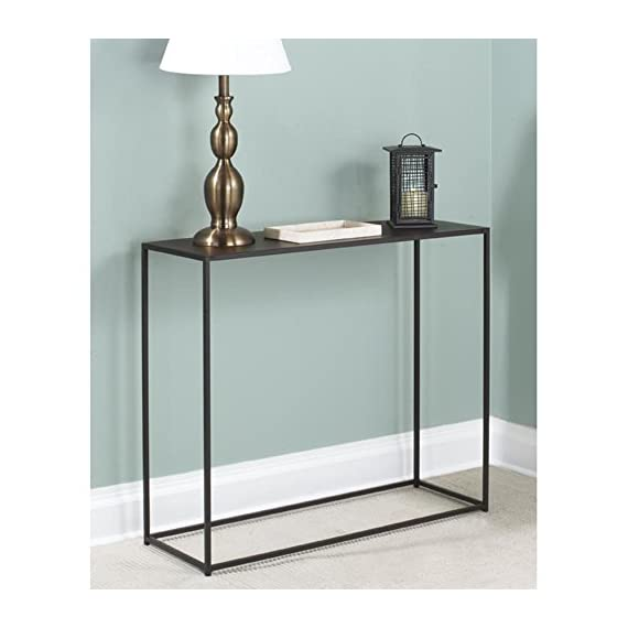 tag - Urban Console Table, A Perfect Addition to Any Home, Mild Steel Top with Coco Finish - Constructed with solid steel rods and steel plate tops Features a beautiful and durable powder coat finish in coco color Sleek design is well suited for smaller spaces - living-room-furniture, living-room, console-tables - 41bDmuteaaL. SS570  -