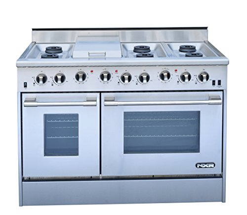 "Price comparison product image NXR DRGB4801 Professional Style Gas Range, 48"", Stainless Steel"