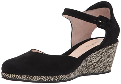 BeautiFeel Women's Piper Wedge Sandal Black/Dragonfly Suede