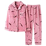Vic Gray Women Pajama Sets Winter Warm Flannel Nightgowns Comfortable Sleepwears