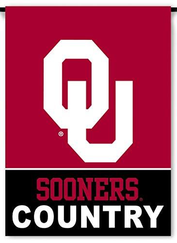 NCAA Oklahoma Sooners 2-Sided Country Garden Flag, Team Color