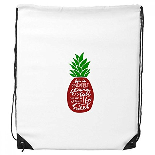 Be a Pineapple Stand Tall Quote Chritsmas Drawstring Backpack Shopping Sports Bags Gift Draw Pedestal