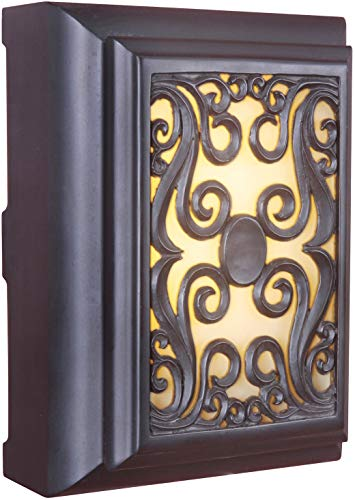 Craftmade ICH1630-OB Illuminated Chime System Framed Scroll Lighted LED Door Chime, Oiled Bronze (11.5
