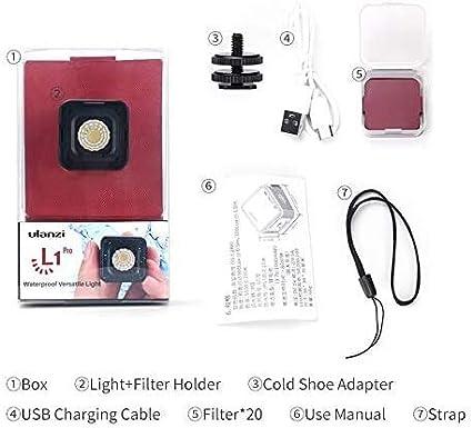 Ulanzi Wasserdichte L1 Pro Mini Led Videoleuchte Auf Kamera