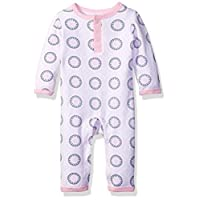 The Children's Place Baby Girls' Long Sleeve One-Piece Pajamas, Cloud/Icelandic 65831, 6-9 Months