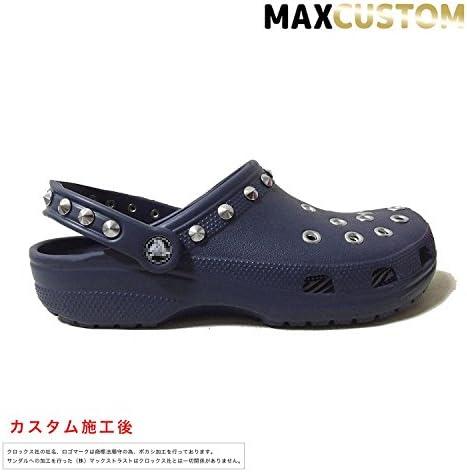 クロックス パンク カスタム クラシック ケイマン 濃紺 ネイビー crocs classic custom クロッグ サンダル