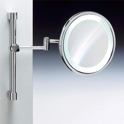 (Nameeks Windisch 99189-CR-3x-637509883171 Fluorescent Mirrors Collection Wall Mounted Optical Mirror, Chrome)