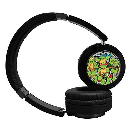 MOO-U9 TMNT Mutant Ninja Turtles Active Noise Cancelling Wireless Bluetooth Over-ear Stereo Headphones - Black