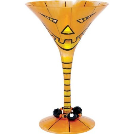 Halloween Inspired Martinis - Lolita Pumpkin Potion Martini Glass