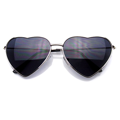 Metal Frame Heart Shape Sunglasses Cute Lovely Women's Sunglasses - Aviator Heart Sunglasses