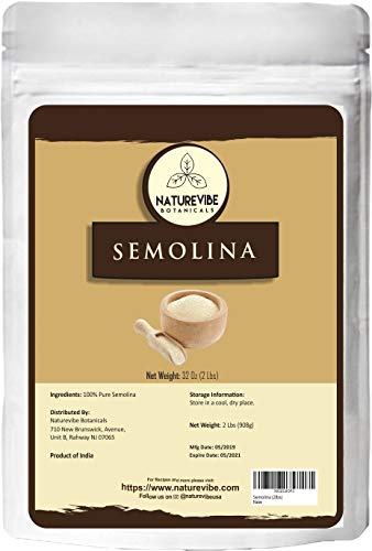 Naturevibe Botanicals Semolina, 2lbs | Non-GMO and Gluten Free | Used for...