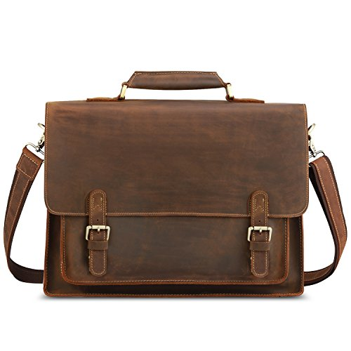Kattee Leather Shoulder Briefcase